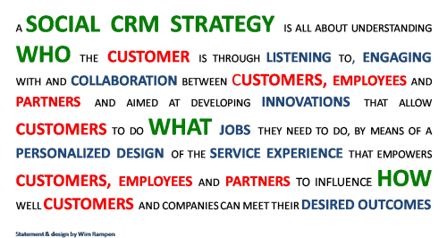 Social CRM Strategy Framework Statement by Wim Rampen