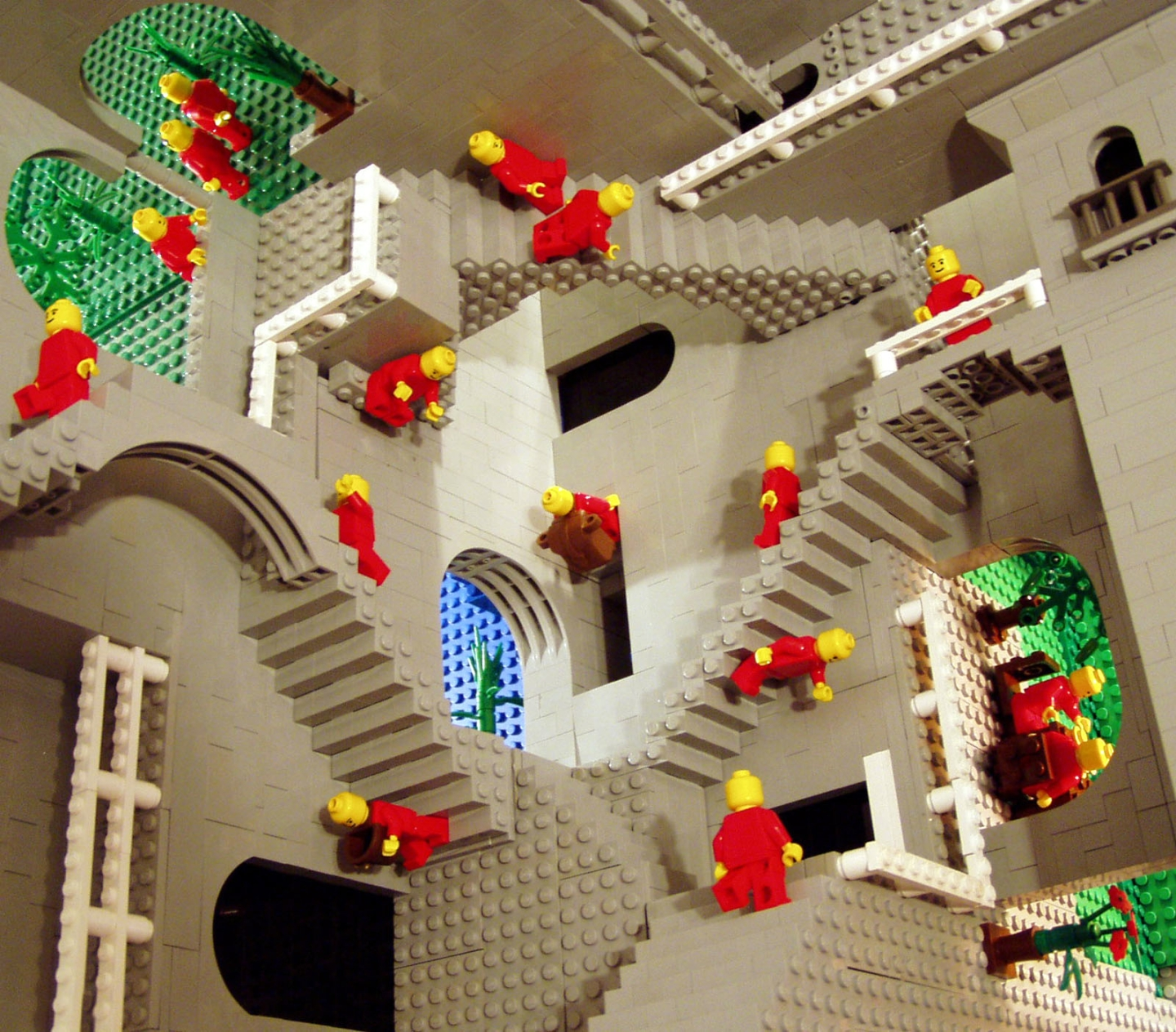 Escher Perspective in Lego, by unknown