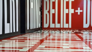 Belief + Doubt by Barbara Kruger, Hirshhorn Museum. National Mall, Washington D.C.