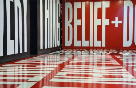 Belief + Doubt by Barbara Kruger, Hirshhorn Museum. National Mall, Washington D.C.